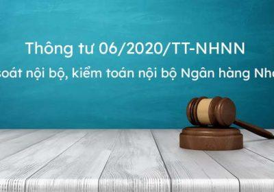 Thông tư 06/2020/TT-NHNN kiểm soát nội bộ, kiểm toán nộ bộ Ngân hàng Nhà nước